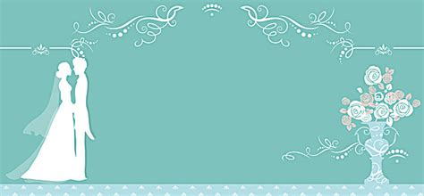 wedding invite background free blue wedding invitation card vector background blue and groom bouquet background image