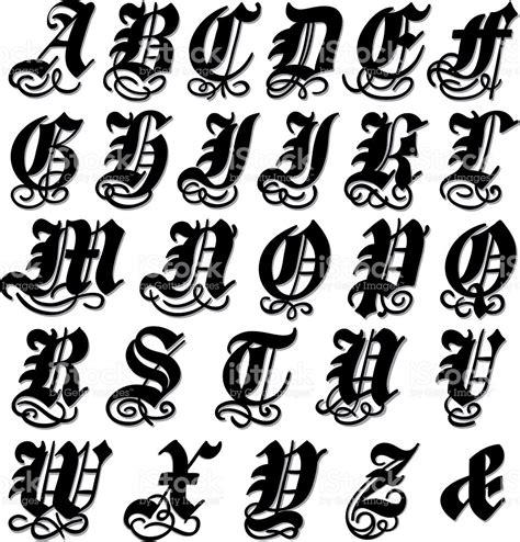 complete gothic alphabet stock vector art 524509121 istock