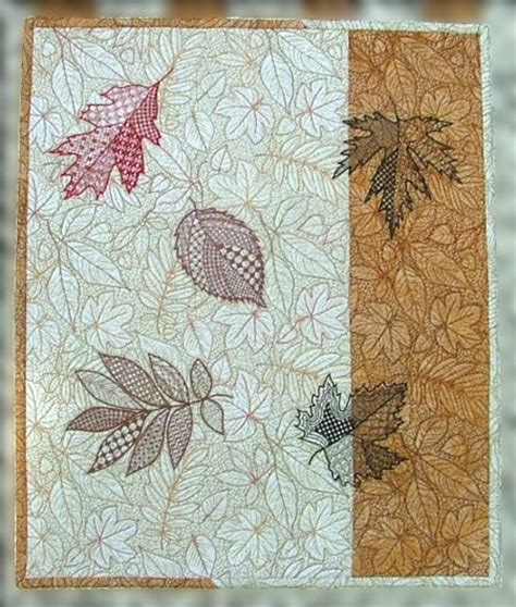 Advanced Embroidery Designs Free Projects And Ideas - fall leaves wall hanging advanced embroidery designs