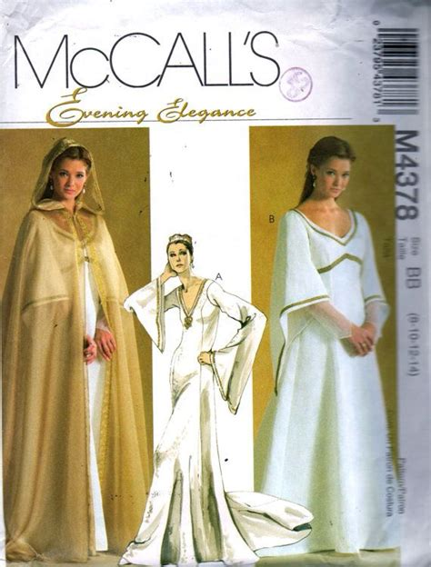 floor length hooded cape pattern mccalls 4378 misses cape and lined dresses floor length