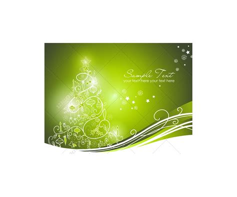 greeting cards  christmas tree vector graphics prearranged christmas card templates