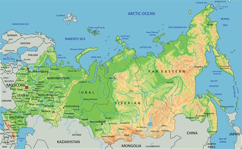 russia on maps map of russia guide of the world