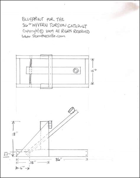 how to make a blue print diy blueprints for catapult plans free