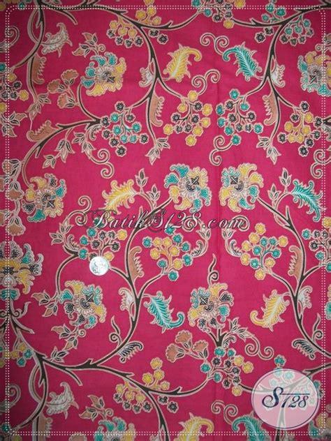 Dress Batik Bunga Pink kain batik warna pink motif bunga untuk seragam keluarga