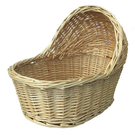 Cute Natural Wicker Crib Gift Basket Small 17cm X 12cm Wicker Baby Crib