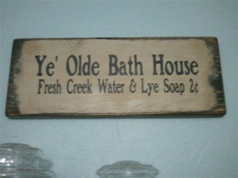 primitive bathroom signs primitive bathroom sign home accessories pinterest