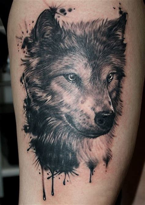 wolf tattoo by tamas dikac tribal body art