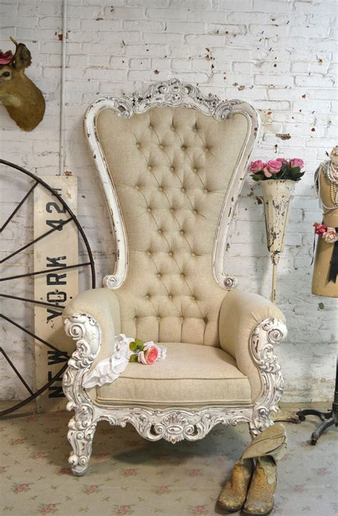 painted cottage chic shabby french tufted upholstered
