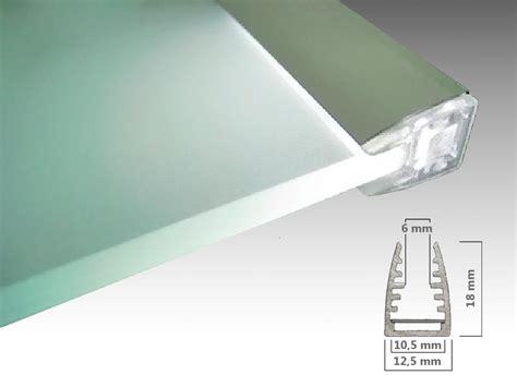 glaskantenprofil g6 alu led profil zur beleuchtung - Glasplatte Beleuchten