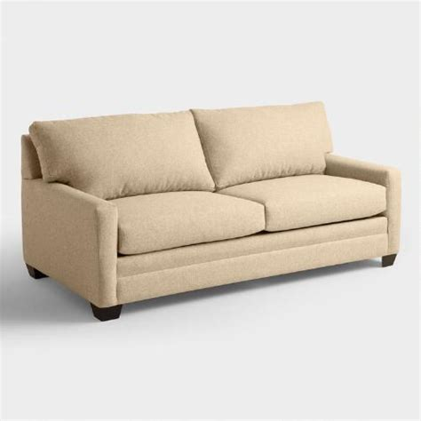 World Market Sleeper Sofa chunky woven holman upholstered sleeper sofa world market