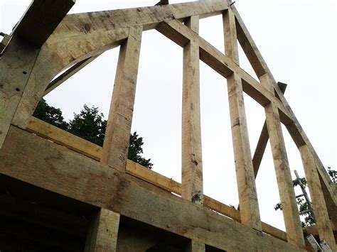 Gable Frame Gable Frame Complete Chaplin Oak Timber Framing