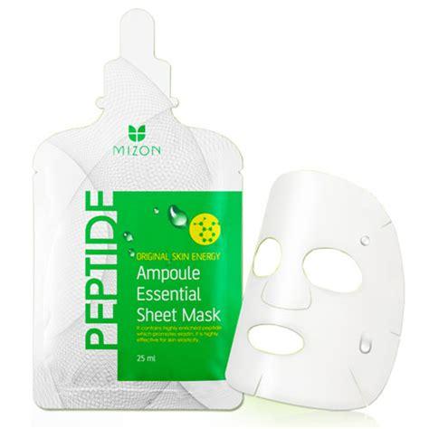 mizon peptide oule essential sheet mask 4p mizon mask sheets shopping sale koreadepart