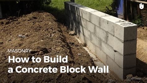 how to build a concrete block house how to build a concrete wall diy projects youtube