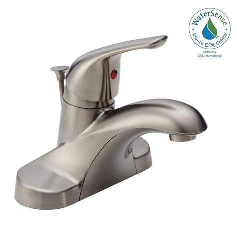 home depot bathroom faucets delta delta foundations 4 in centerset single handle bathroom