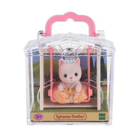Mainan Anak Carry A Home 15885a jual sylvanian families baby carry cat on swing
