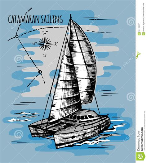 catamaran vector catamaran cartoons illustrations vector stock images