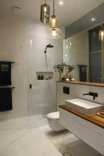 White Ensuite Bathroom Ideas The Block Glasshouse Week 8 Room Reveals Marble Wall