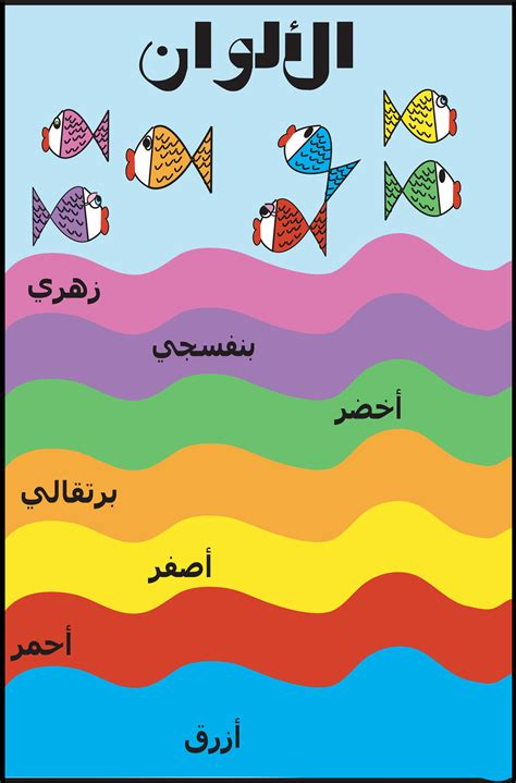 colors in arabic colors poster in arabic my arabic posters for
