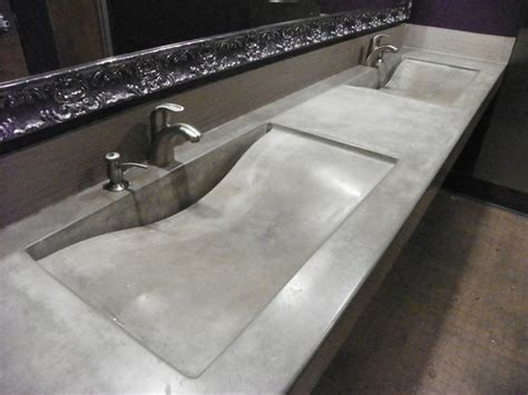 integrated bathroom sink integral concrete sinks