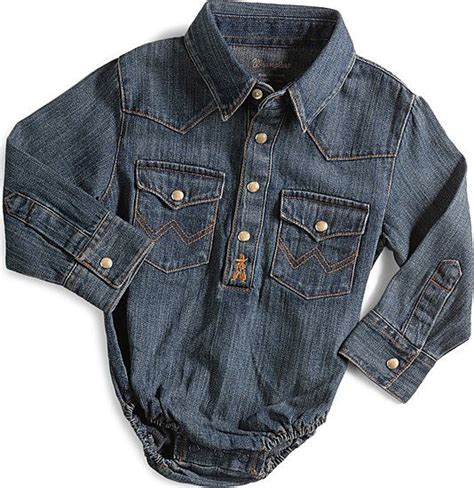 Boy Denim Shirt baby boy sleeve bodysuit denim boys denim shirt
