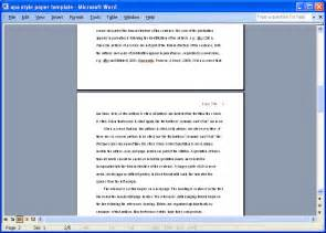 Essay Reference Page Exle by Sle Apa Essay Template