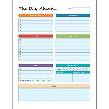 Daily Work Pad Template Free