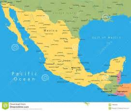 mexico vector map stock vector image of land