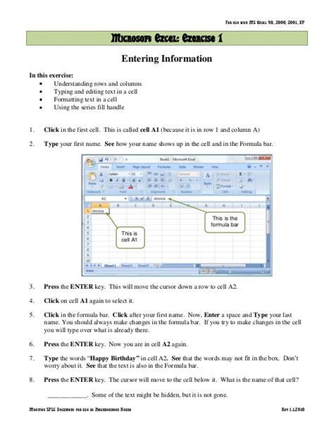 tutorial word excel 2007 microsoft excel 2007 tutorial