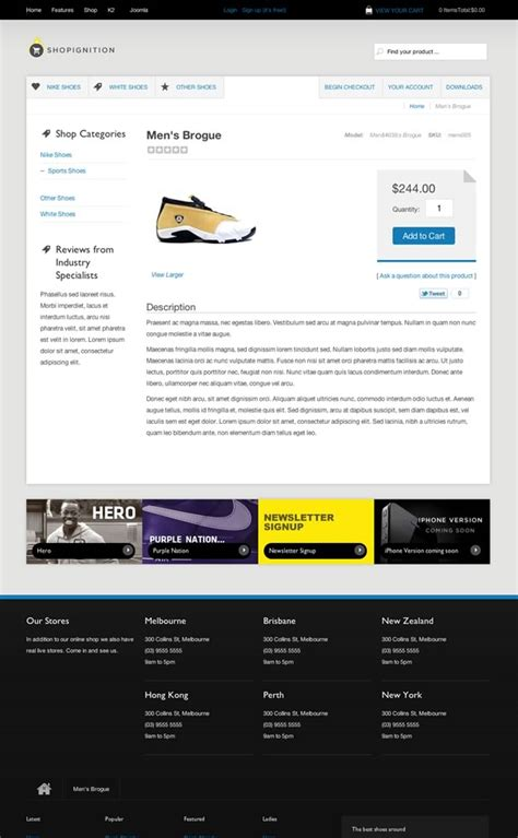 joomla shop template clean ecommerce joomla template