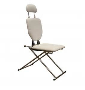 mobile shoo chair in white