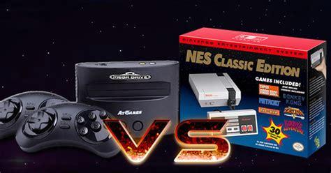 nintendo sega console mega drive classic console vs nes classic edition tgg