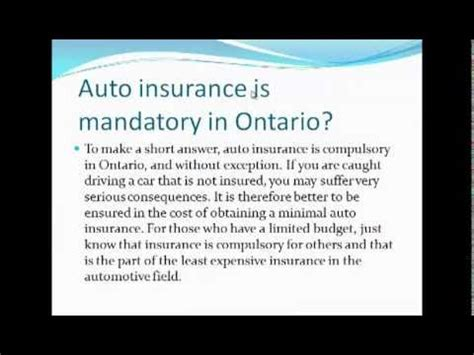 Cheap Car Insurance Ontario by Cheapest Car Insurance In Ontario Canada