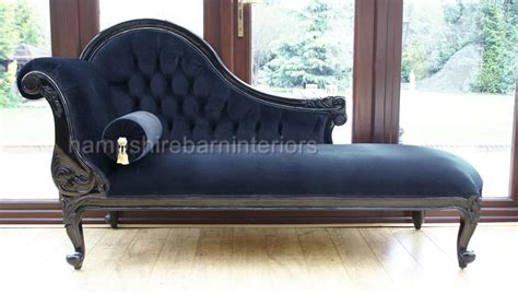 black velvet chaise lounge chelsea chaise longue single ended black velvet sofa