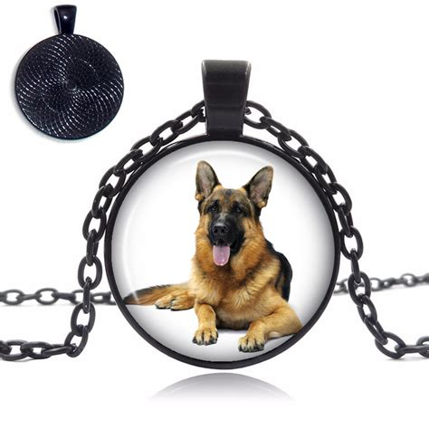 top pet gifts german shepherd glass dome necklace top pet gifts