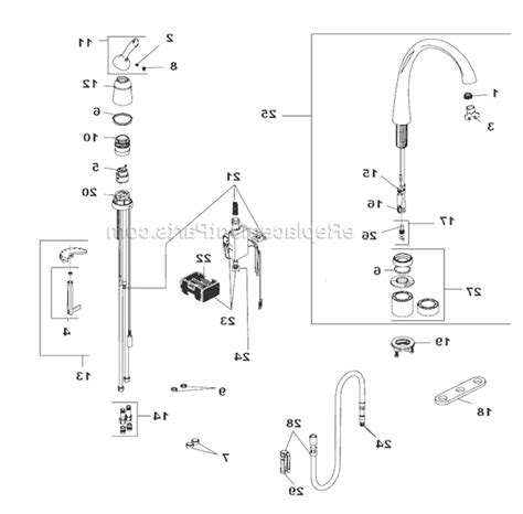Delta Kitchen Faucet Parts Diagram Faucet Repair Parts Delta Shower Diagrams Monitor Diagram And Delta Kitchen Faucet Repair