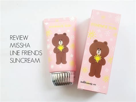 Missha All Around Safe Block Line Edition review kem chống nắng missha line friends edition talkbeauty