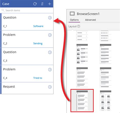 change layout of app creating an app from the common data service powerapps