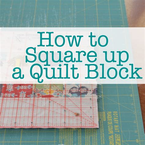 How To Quilt by How To Square Up A Quilt Block The Crafty Mummy