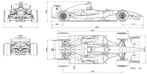 dallara gp208 blueprint free blueprint for 3d