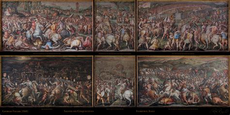 vasari s vasari s battle of marciano palazzo vecchio florence