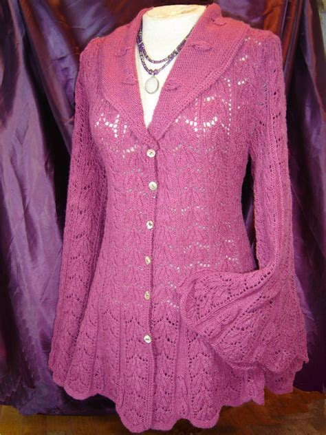 etsy jacket pattern heirloom lace jacket knitting pattern pdf