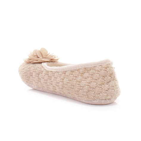 ladies bedroom slippers womens bedroom athletics charlize natural fleece knit