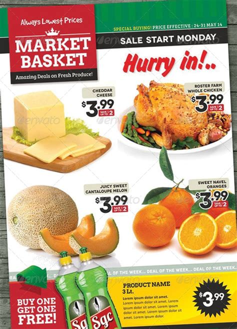 Supermarket Flyer Template Free 20 Grocery Flyer Templates Printable Psd Ai Vector Eps Format Download Design Trends