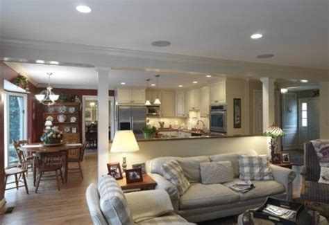 kitchen attached to small family room small open kitchen dining room interior design ideas and decorating ideas