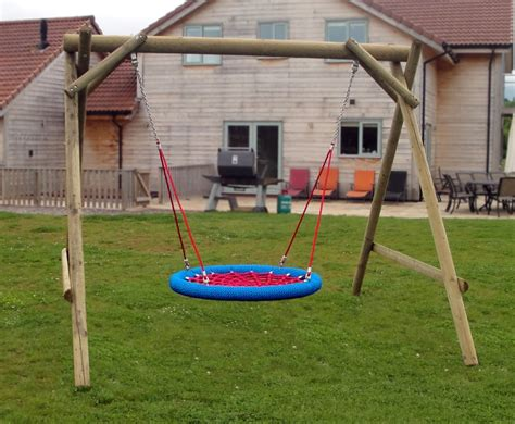 basket swing family basket swing wooden garden play equipment