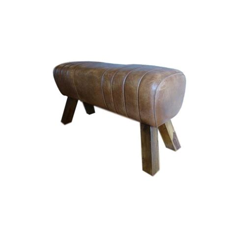 genuine leather bench genuine leather bench pommel horse style blackbrook