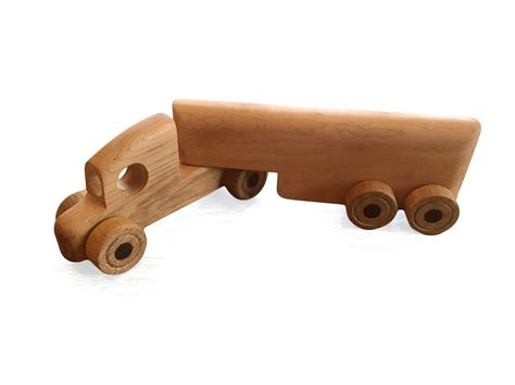 Handmade Wood Gifts - toft workshop lorry handmade wooden gift