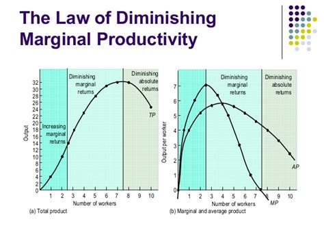 explain the law of diminishing the production and cost c m a