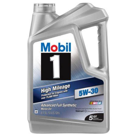 Most High Milage Motor 5w 30 Detox by Mobil 1 5w 30 High Mileage Synthetic Motor 5 Qt