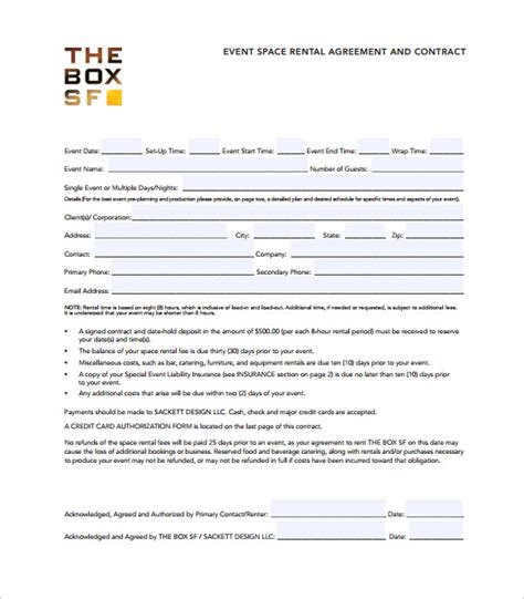 19 Event Contract Templates To Download For Free Sle Templates Event Contract Template